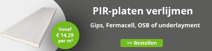 PIR-platen verlijmen
